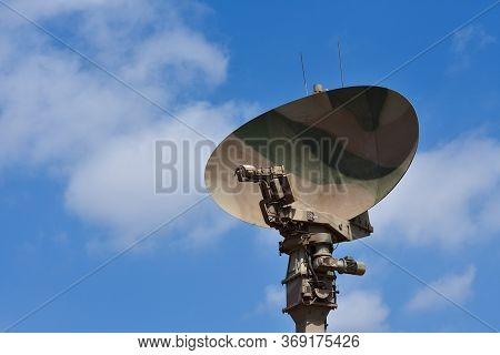Deployed Military Radar Antenna Dish, Pretoria, South Africa