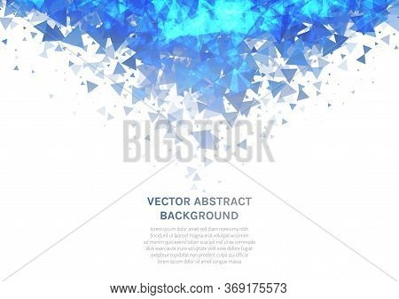 Vector Abstract Background With A Texture Of Triangles. Geometric Dance Of Figures In The Air.