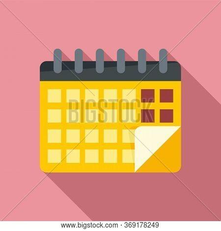 Lesson Calendar Icon. Flat Illustration Of Lesson Calendar Vector Icon For Web Design