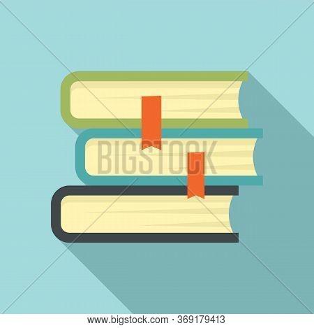 University Book Stack Icon. Flat Illustration Of University Book Stack Vector Icon For Web Design