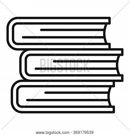 University Book Stack Icon. Outline University Book Stack Vector Icon For Web Design Isolated On Whi