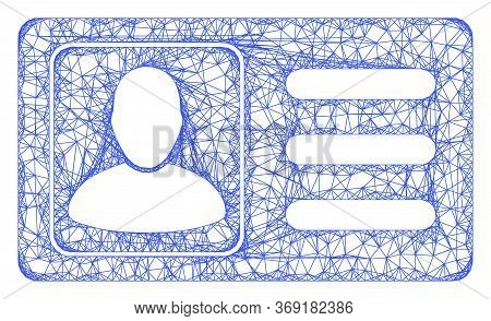 Web Net User Account Card Vector Icon. Flat 2d Carcass Created From User Account Card Pictogram. Abs
