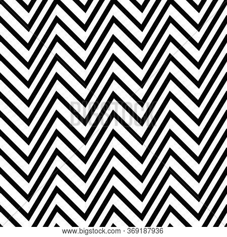Zigzag Lines Seamless Pattern. Angled Jagged Stripes Ornament. Linear Waves Motif. Curves Print. Str