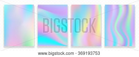Abstract Modern Background. Galaxy, Fairytale Wallpaper. Holographic Template. Premium Vector.
