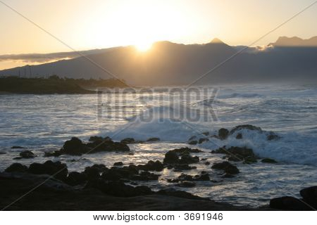 Sunset At Beach On Maui