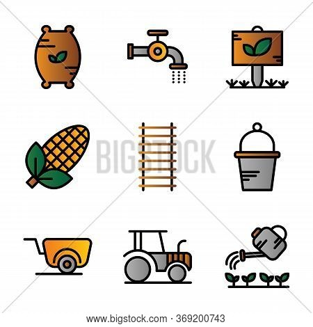 Agriculture Icon Set Including Compound,seed,fertilizer,flush, Water,pipe,garden,tree,leaf,corn, Agr