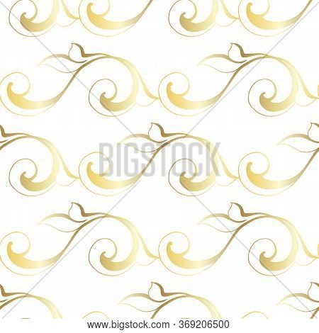 Vector Vintage Baroque Ornament. Retro Pattern Antique Style Acanthus. Seamless Pattern