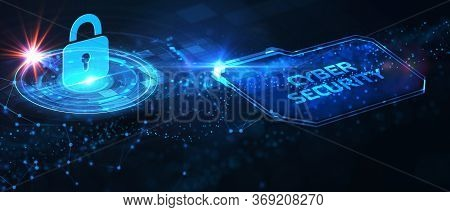 Cyber Security Data Protection Business Technology Privacy Concept. Cyber Security  3d Illustration