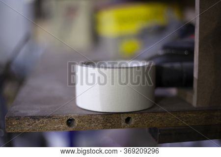 Adhesive Tape For Fixing Items. Adhesive Tape. Subject In The Workshop. A Simple Thing Everyone Need