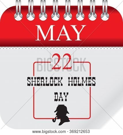 Calendar With Perforation For Changing Dates - May Sherlock Holmes Day