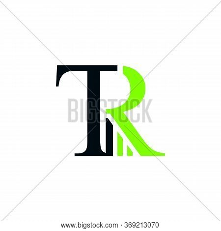 Letter Tr Business And Finance Typography Logo Vector Design Isolated On A White Background. Busines