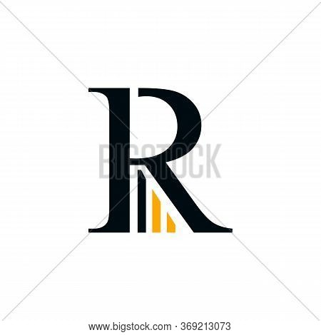 Letter R Business And Finance Typography Logo Vector Design Isolated On A White Background. Business