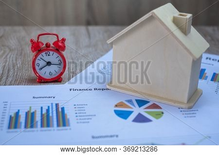 Red Alarm Clock. Prime Time Every Second.concept For Business Deadline, Schedule And Urgency.red Ret