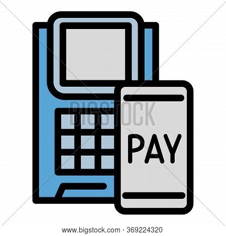 Online Pay Icon. Outline Online Pay Vector Icon For Web Design Isolated On White Background