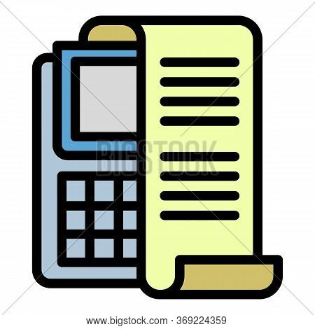 Check Payment Terminal Icon. Outline Check Payment Terminal Vector Icon For Web Design Isolated On W