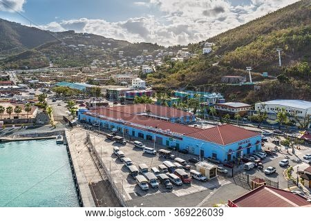 Charlotte Amalie, St. Thomas, Usvi - April 30, 2019: View Of The Port Of Sale Mall Shopping Center A