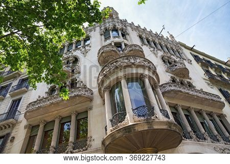 Barcelona, Spain - May 16, 2017: View Of The Casa Lleo Morera In The Eixample District Of Barcelona