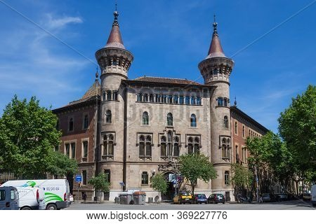 Barcelona, Spain - May 16, 2017: View Of The Municipal Conservatory Of Barcelona. Is A Teaching Inst