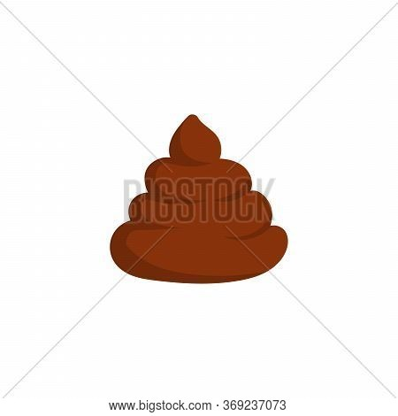 Piece Of Turd Icon In Cartoon Style Isolated On White Background Vector Illustration