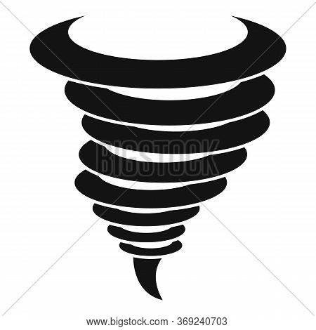 Wind Tornado Icon. Simple Illustration Of Wind Tornado Vector Icon For Web Design Isolated On White