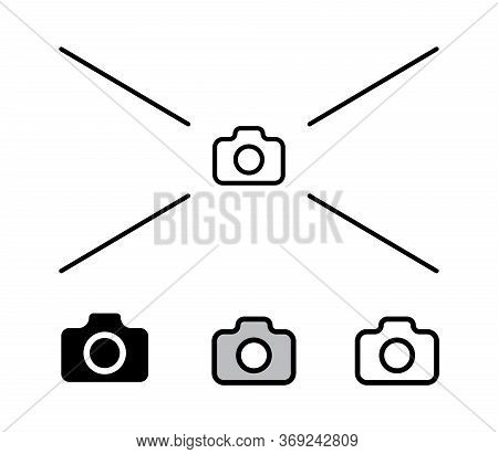 Simple Outline Foto Camera Icon Vector Illustration