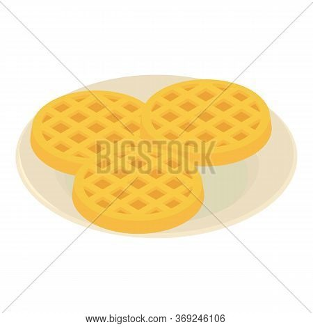 Belgian Waffle Icon. Isometric Illustration Of Belgian Waffle Vector Icon For Web