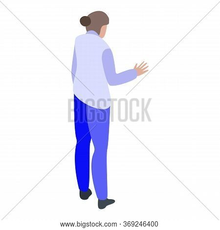 Woman Witness Icon. Isometric Of Woman Witness Vector Icon For Web Design Isolated On White Backgrou