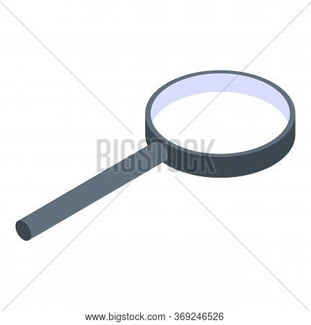 Magnifying Glass Icon. Isometric Of Magnifying Glass Vector Icon For Web Design Isolated On White Ba