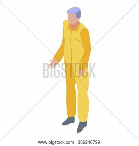 Witness Prisoner Icon. Isometric Of Witness Prisoner Vector Icon For Web Design Isolated On White Ba