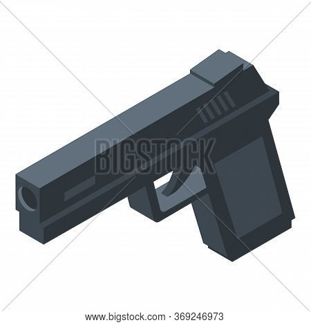 Gun Icon. Isometric Of Gun Vector Icon For Web Design Isolated On White Background