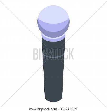 Concert Microphone Icon. Isometric Of Concert Microphone Vector Icon For Web Design Isolated On Whit