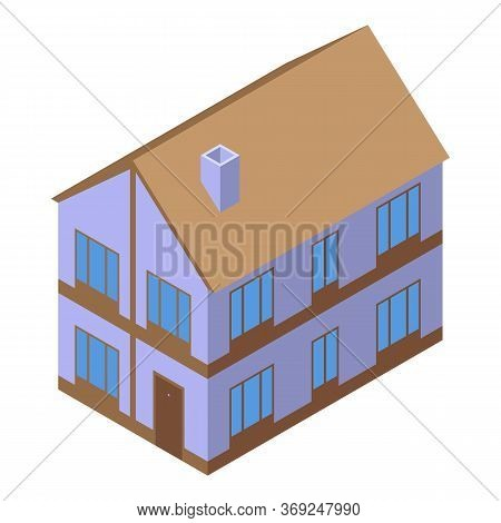 City Cottage Icon. Isometric Of City Cottage Vector Icon For Web Design Isolated On White Background