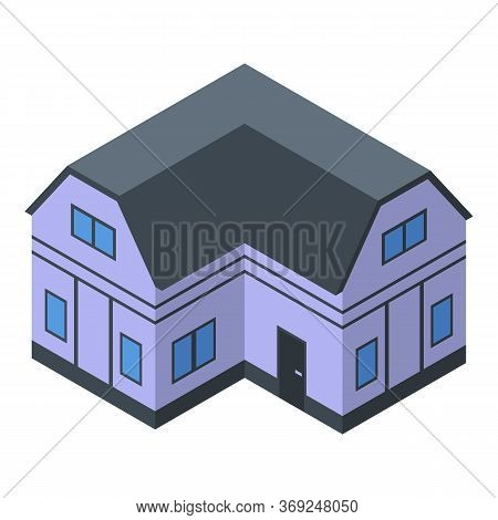 Comfort Cottage Icon. Isometric Of Comfort Cottage Vector Icon For Web Design Isolated On White Back