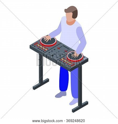 Concert Dj Icon. Isometric Of Concert Dj Vector Icon For Web Design Isolated On White Background