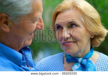 Beautiful older people are enjoying the fresh air