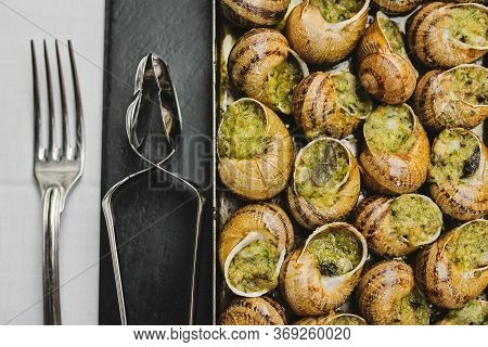Bourgogne Escargots, Snails With Herbs Butter, With Marrow