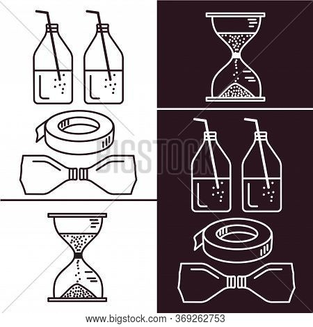 How To Make Hourglass From Bottles Of Lemonade, Sand And Electrical, Scotch Tape Or Adhesive Tape. V