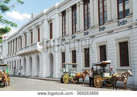 Manila, Ph - Feb 16 - Ayuntamiento De Manila, Housing Bureau Of The Treasury Facade At Intramuros On