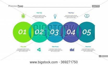 Venn Diagram With Five Elements. Step Chart, Process Diagram, Slide. Creative Concept For Infographi