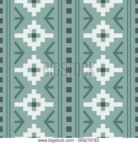 Vector Pastel Green Woven Geometric Design Seamless Pattern Background