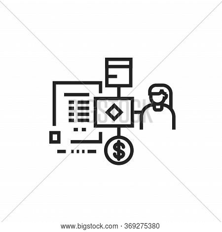Brand Equity Black Line Icon. Pictogram For Web Page, Mobile App, Promo. Ui Ux Gui Design Element. E