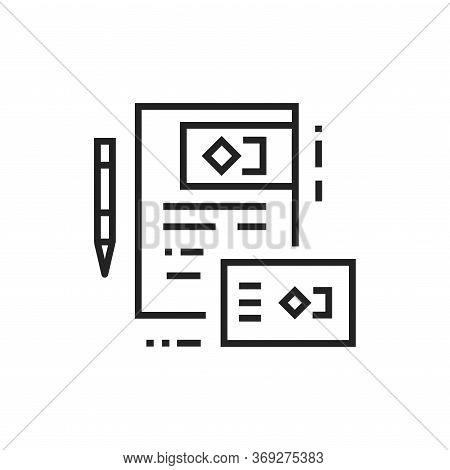 Brand Identity Black Line Icon. Visible Elements Brand. Pictogram For Web Page, Mobile App, Promo. U