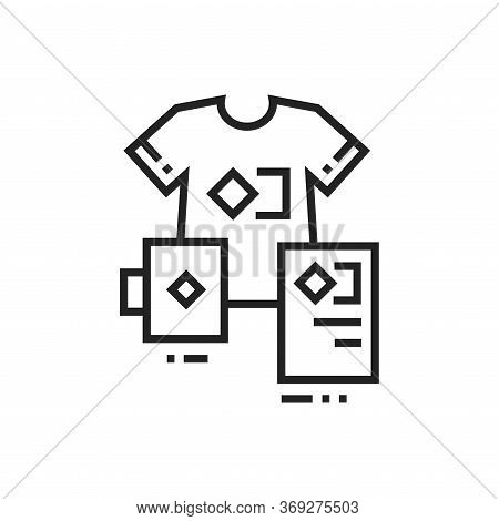 Brand Identity Black Line Icon. Corporate Identity. Visible Elements Brand. Pictogram For Web Page,