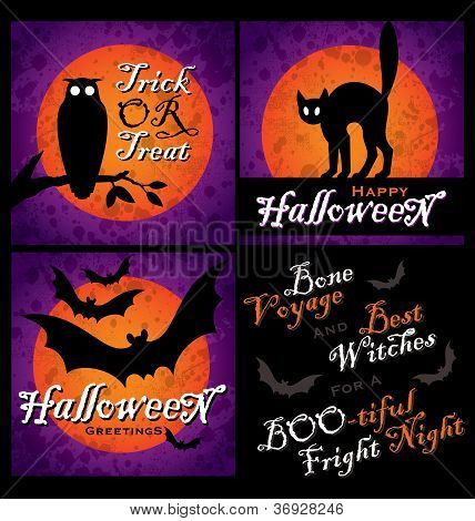 HALLOWEEN designs set (vector)