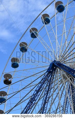 Particular Of The Ferris Wheel In Kassel, Germany