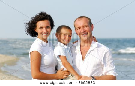 Happy Family With One Children