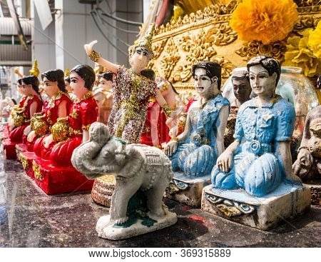 Dancing Dolls Worship Gods. Images For Commercial User.