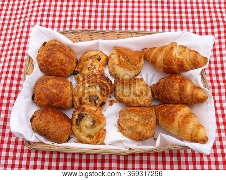 A Selection Of Different Traditional French Baked Breads