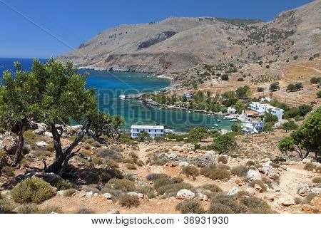 Lykos bay at Crete island in Greece. Area of Loutro and Sfakia poster
