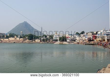 Pushkar Lake Or Pushkar Sarovar Is A Sacred Lake Of The Hindus Is Located In The Town Of Pushkar In